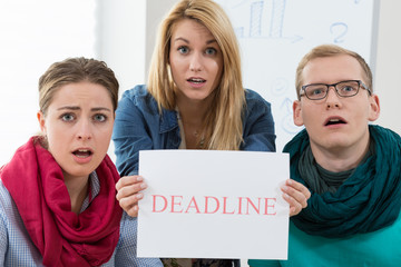 Business team missing a deadline