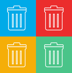 Unwanted Data Computer Trash Waste Icon Vector Concept