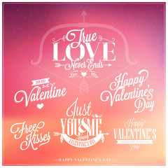 Happy Valentine's Day Hand Lettering