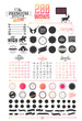 200 elements of Hipster elements - 76776656