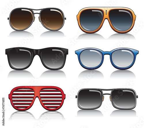 Sunglasses Vector Set - 76776811