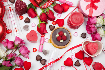 Assorted Valentines Gifts and Treats