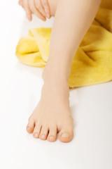 Female leg after depilation