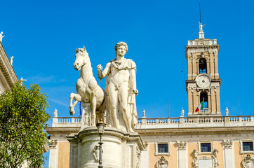 Equestrian statue of Castor on Capitol. Rome. Italy