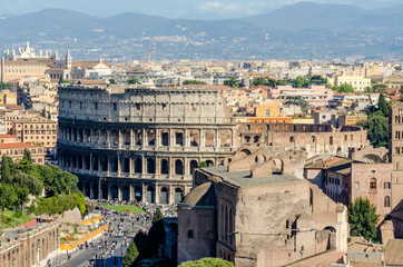 The Colosseum and the Roman Forum, Rome