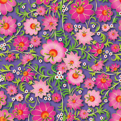 abstract seamless spring floral ornament