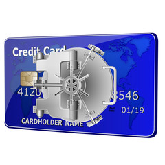 credit card security bolts with microchip