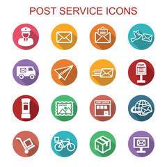 post service long shadow icons