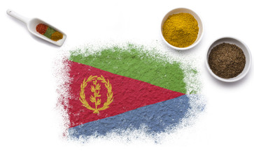 Spices forming the flag of Eritrea.(series)