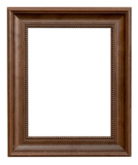 wood frame with clipping path on isolated white.