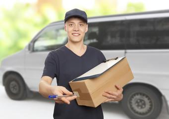 Delivery man portrait