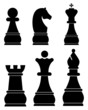 Chess icons set - 76785090