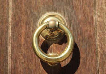 Heavy brass door knocker
