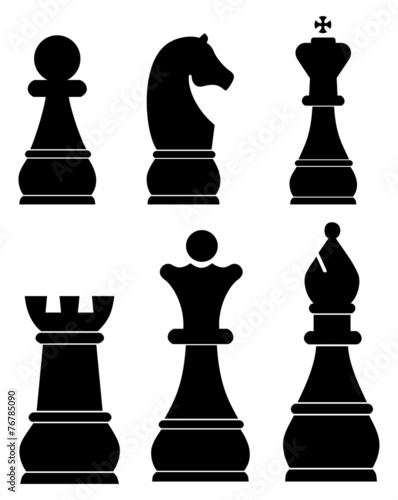 Chess icons set - 76785090