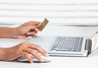 Making online purchase using a credit card
