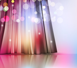 vector background with theatre curtain