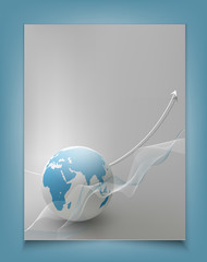 vector template for a business with a globe