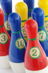 plastic skittles toy detail