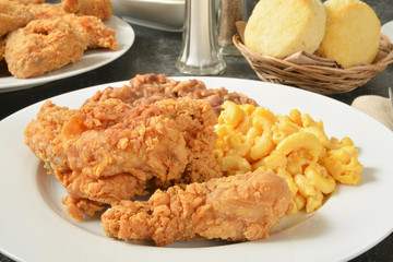 Fried chicken dinner
