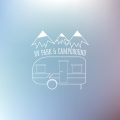 RV and caravan park template. Can be used as logo, badges banner