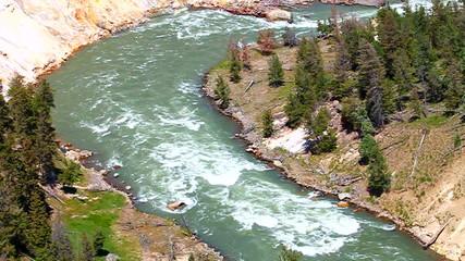 Yellowstone River Rapids Landscape