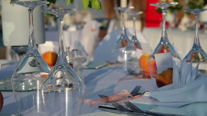 Table Setting At Outdoor Restaurant