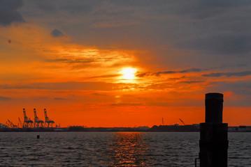 New York Harbor at Sunset