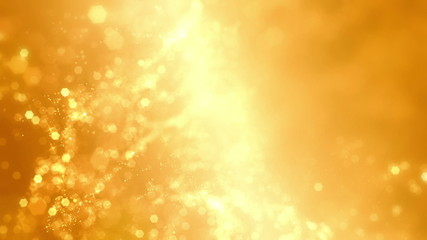 Yellow sparks stars dust background
