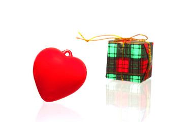 Heart and gift box