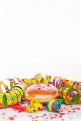 Berliner, Konfetti und Luftschlangen für Geburtstag oder Party