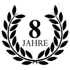 Lorbeerkranz. 8 jahre jubiläum