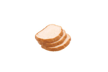 Three slices of bread.