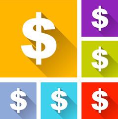 dollar icons