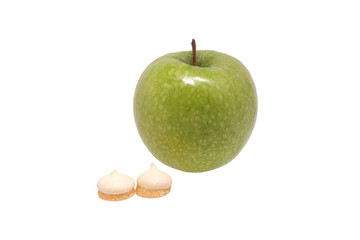 Green apple and biscuits
