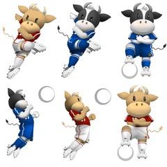 牛のサッカー選手