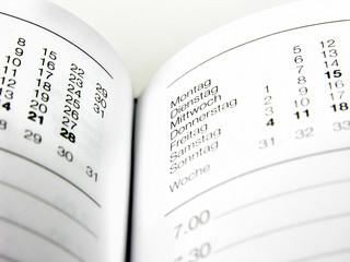 Detailansicht Terminkalender