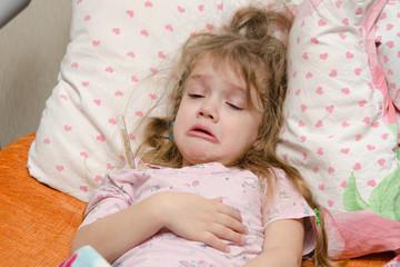 Three year old girl ill