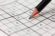 crossword sudoku and pencil, popular puzzle game with numbers - 76794025