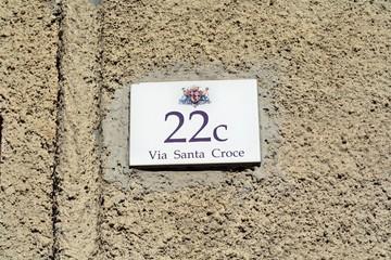 Via Santa Croce a Cagliari