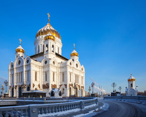 Churchl of Christ the Savior in Moscow at winter