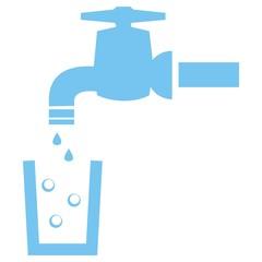faucet - blue bubbles