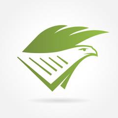 eagle text book shield symbol emblem sign
