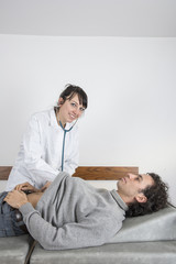 dottoressa e paziente