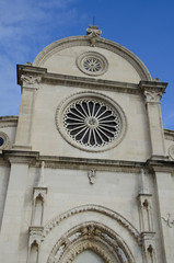 front of sibenik cathedral