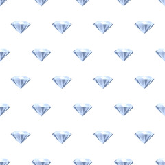 Seamless diamonds pattern on white.