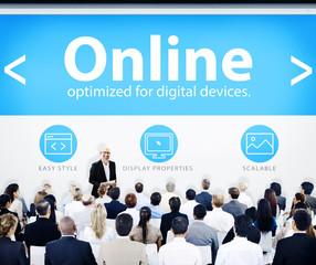Business People Online Presentation Concept