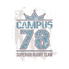 Campus rugby team emblem