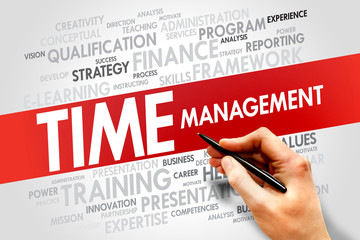 Time Management word cloud, business concept