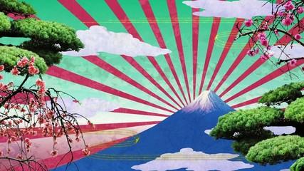 極彩色な富士山