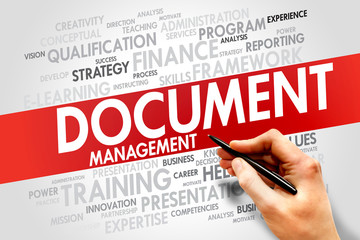 Document Management word cloud, business concept